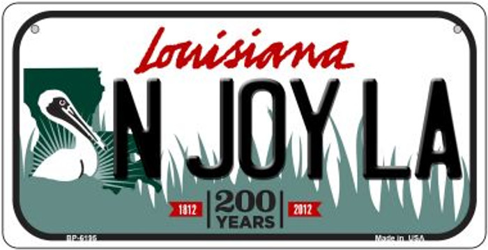 N Joy LA Louisiana Novelty Metal Bicycle Plate BP-6195