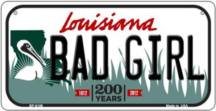 Bad Girl Louisiana Novelty Metal Bicycle Plate BP-6196