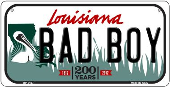 Bad Boy Louisiana Novelty Metal Bicycle Plate BP-6197
