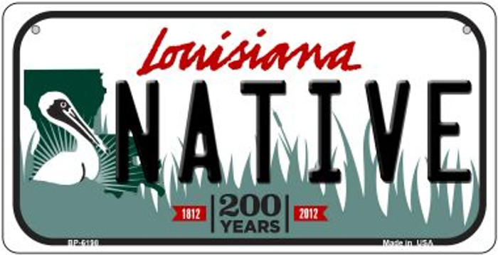Native Louisiana Novelty Metal Bicycle Plate BP-6198