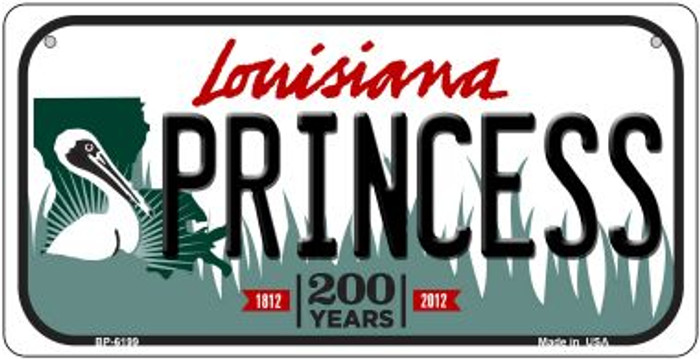 Princess Louisiana Novelty Metal Bicycle Plate BP-6199