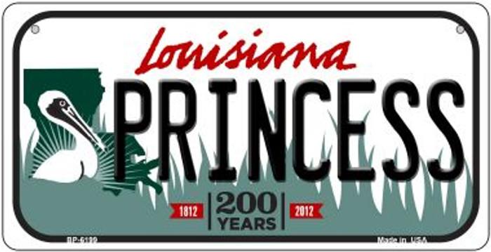 Princess Louisiana Novelty Metal Bicycle Plate BP-6199