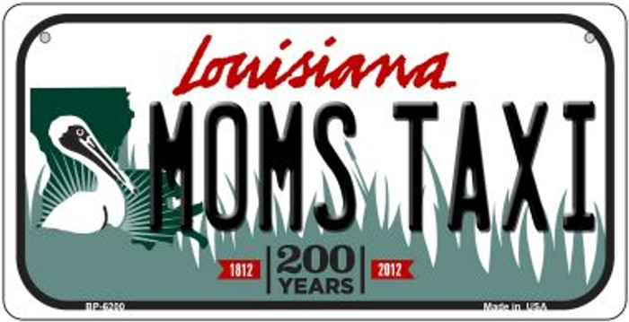 Moms Taxi Louisiana Novelty Metal Bicycle Plate BP-6200