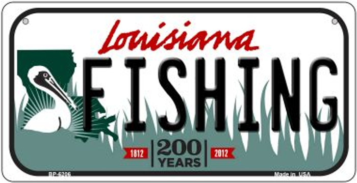 Fishing Louisiana Novelty Metal Bicycle Plate BP-6206