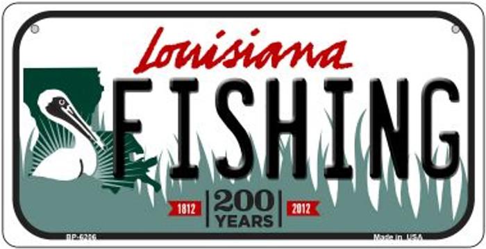 Fishing Louisiana Novelty Metal Bicycle Plate BP-6206