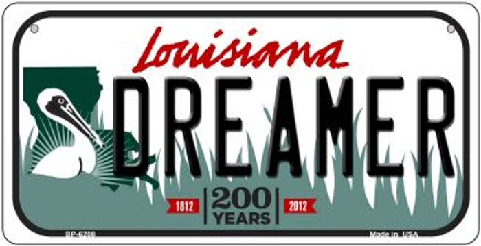 Dreamer Louisiana Novelty Metal Bicycle Plate BP-6208