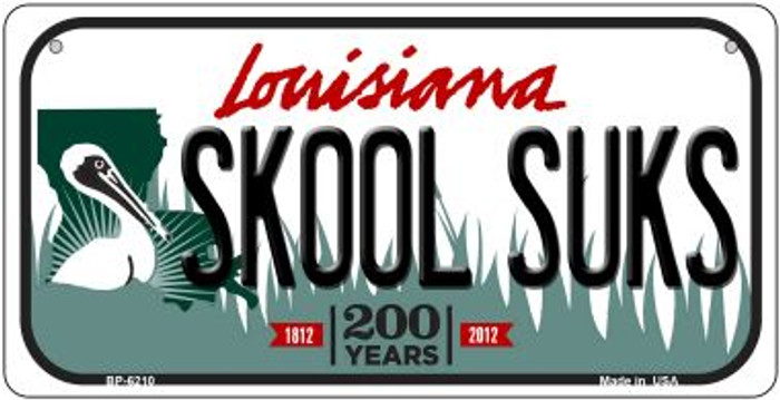 Skool Suks Louisiana Novelty Metal Bicycle Plate BP-6210