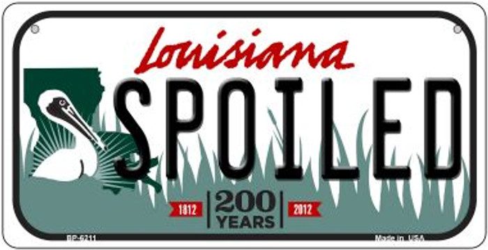 Spoiled Louisiana Novelty Metal Bicycle Plate BP-6211