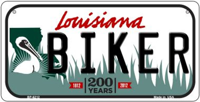 Biker Louisiana Novelty Metal Bicycle Plate BP-6212