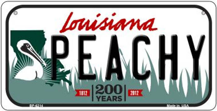 Peachy Louisiana Novelty Metal Bicycle Plate BP-6214