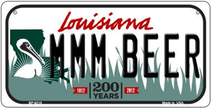 MMM Beer Louisiana Novelty Metal Bicycle Plate BP-6215