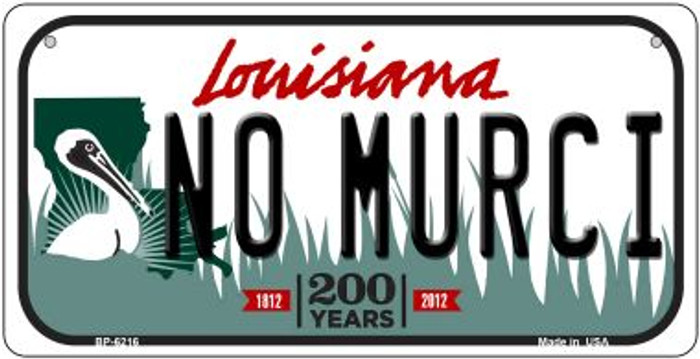 No Murci Louisiana Novelty Metal Bicycle Plate BP-6216