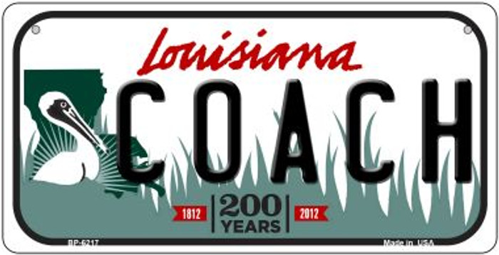 Coach Louisiana Novelty Metal Bicycle Plate BP-6217