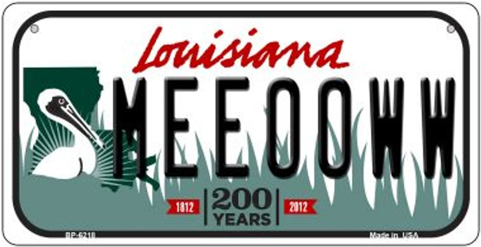Meeooww Louisiana Novelty Metal Bicycle Plate BP-6218