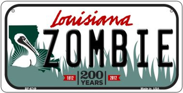 Zombie Louisiana Novelty Metal Bicycle Plate BP-6749