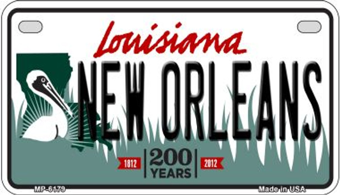 New Orleans Louisiana Novelty Metal Motorcycle Plate MP-6179