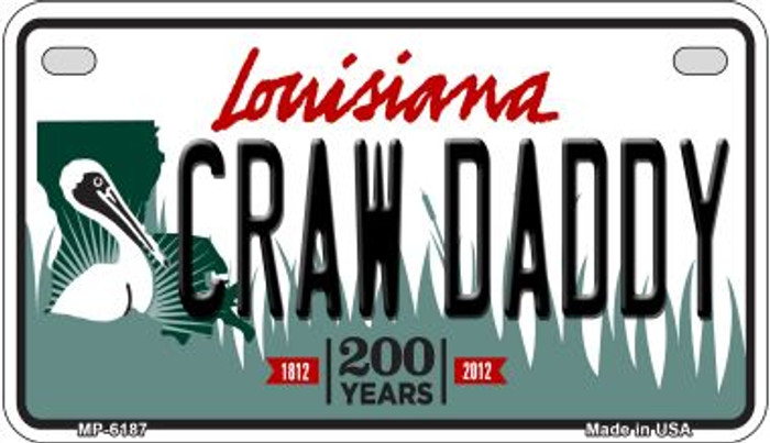 Craw Daddy Louisiana Novelty Metal Motorcycle Plate MP-6187