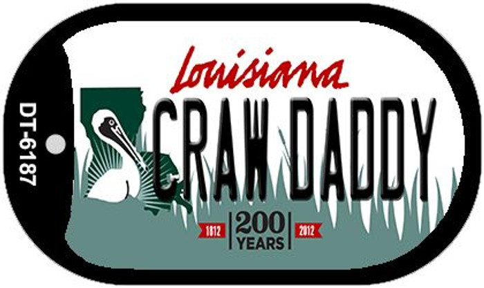 Craw Daddy Louisiana Novelty Metal Dog Tag Necklace DT-6187