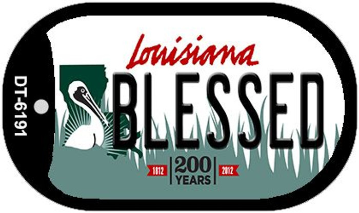 Blessed Louisiana Novelty Metal Dog Tag Necklace DT-6191