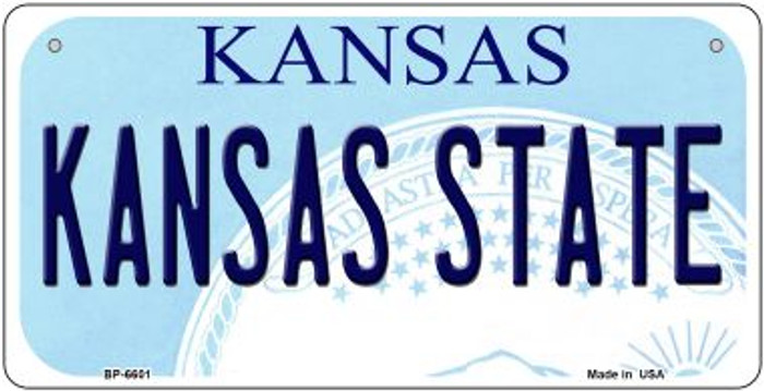 Kansas State University Kansas Novelty Metal Bicycle Plate BP-6601