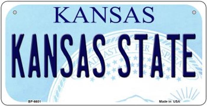 Kansas State University Kansas Novelty Metal Bicycle Plate BP-6601