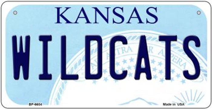 Wildcats Kansas Novelty Metal Bicycle Plate BP-6604