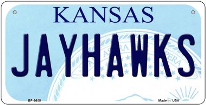 Jayhawks Kansas Novelty Metal Bicycle Plate BP-6605