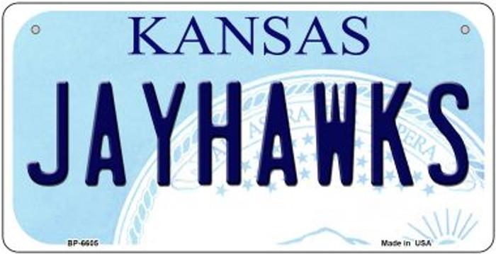 Jayhawks Kansas Novelty Metal Bicycle Plate BP-6605
