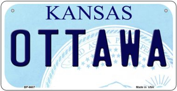 Ottawa Kansas Novelty Metal Bicycle Plate BP-6607
