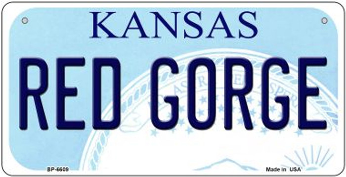 Red Gorge Kansas Novelty Metal Bicycle Plate BP-6609