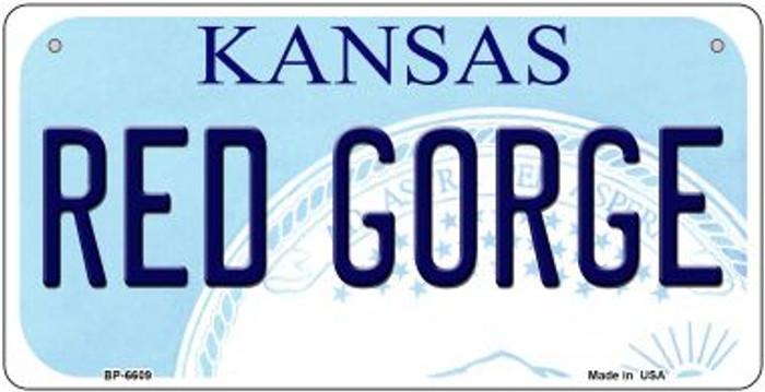 Red Gorge Kansas Novelty Metal Bicycle Plate BP-6609
