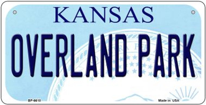 Overland Park Kansas Novelty Metal Bicycle Plate BP-6610