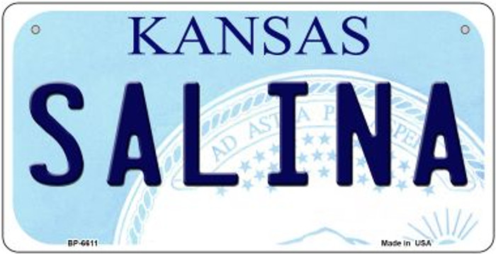 Salina Kansas Novelty Metal Bicycle Plate BP-6611