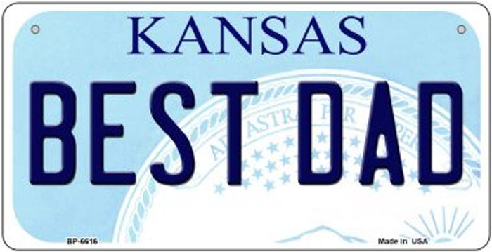 Best Dad Kansas Novelty Metal Bicycle Plate BP-6616