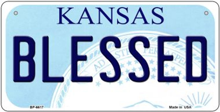 Blessed Kansas Novelty Metal Bicycle Plate BP-6617
