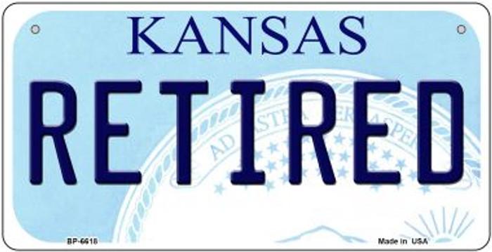 Retired Kansas Novelty Metal Bicycle Plate BP-6618