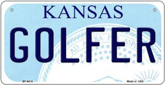 Golfer Kansas Novelty Metal Bicycle Plate BP-6619