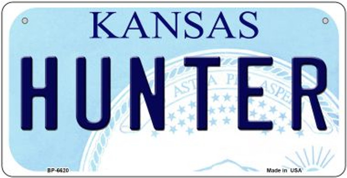 Hunter Kansas Novelty Metal Bicycle Plate BP-6620