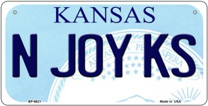 N Joy KS Kansas Novelty Metal Bicycle Plate BP-6621