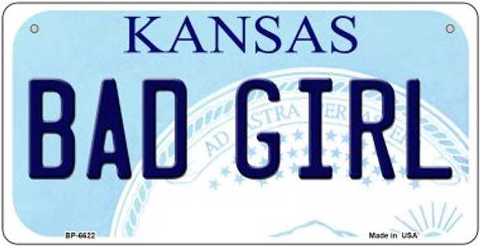 Bad Girl Kansas Novelty Metal Bicycle Plate BP-6622