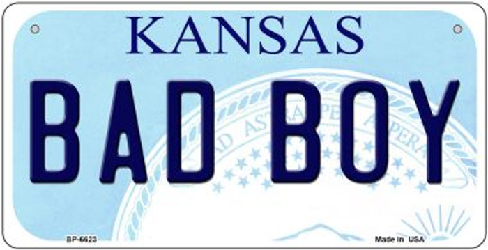 Bad Boy Kansas Novelty Metal Bicycle Plate BP-6623