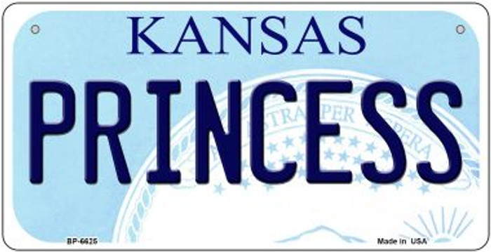 Princess Kansas Novelty Metal Bicycle Plate BP-6625
