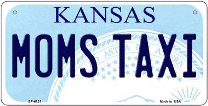 Moms Taxi Kansas Novelty Metal Bicycle Plate BP-6626