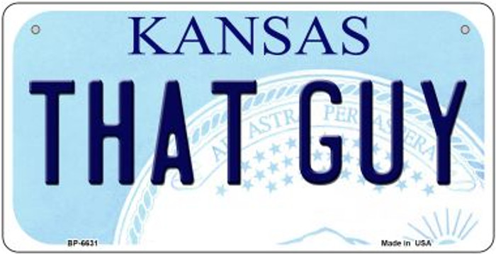 That Guy Kansas Novelty Metal Bicycle Plate BP-6631