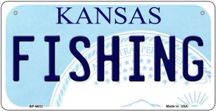 Fishing Kansas Novelty Metal Bicycle Plate BP-6632