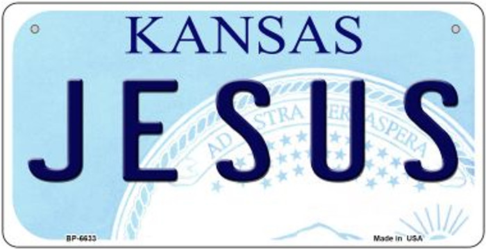 Jesus Kansas Novelty Metal Bicycle Plate BP-6633
