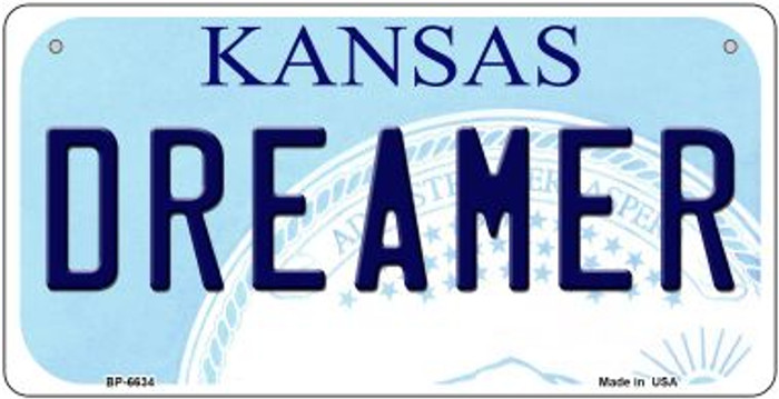Dreamer Kansas Novelty Metal Bicycle Plate BP-6634
