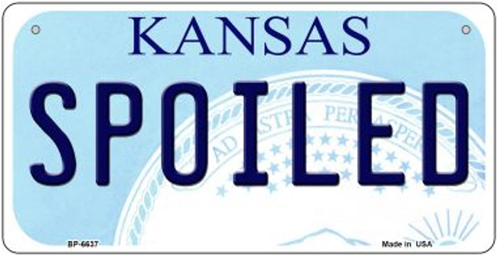 Spoiled Kansas Novelty Metal Bicycle Plate BP-6637