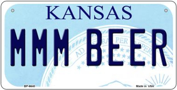 MMM Beer Kansas Novelty Metal Bicycle Plate BP-6640