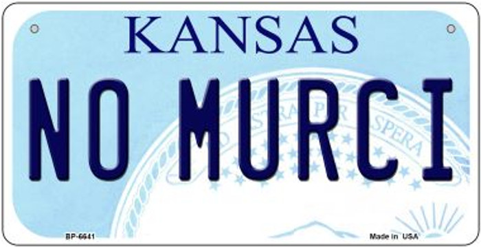 No Murci Kansas Novelty Metal Bicycle Plate BP-6641